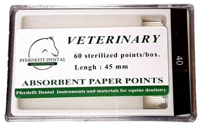 Dental-Papierspitzen - 45mm, 60Stk./Box (verschiedene Dicken)
