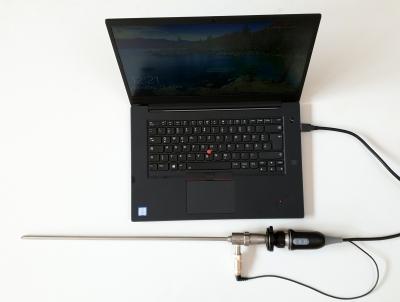 Endoskopkamera NSE, HD - hochauflösend USB 3.0 mit Fix Focus Adapter, Software und Lichtquelle, wasserdicht